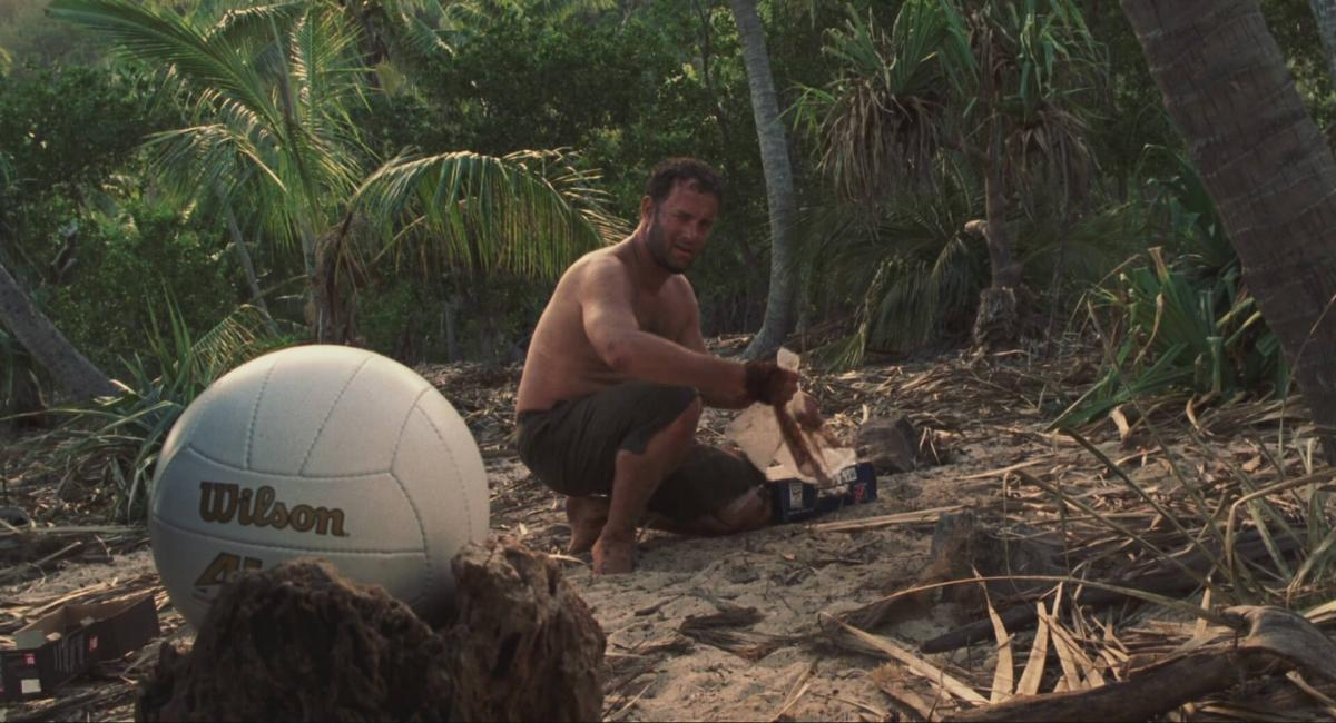 Chuck-Noland-and-Wilson-in-Cast-Away